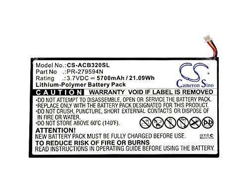 CS batteria ai polimeri di litio 5700 mAh adatta per Tablet Acer Iconia One 10 B3 A20 Iconia Tab 10 A3 A40 A5008 Iconia One 10 B3 A30 sostituisce