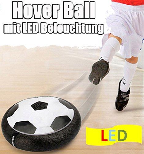 Brigamo 60719 – Hoverball schwebender Luftkissen indoor Fußball mit LED Beleuchtung und Möbelschutz - 2