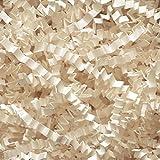 Elfenbeinfarben Wellenschnitt (Zigzag) Geschreddertes Papier–Geschenkkorb Füllung, 500 g