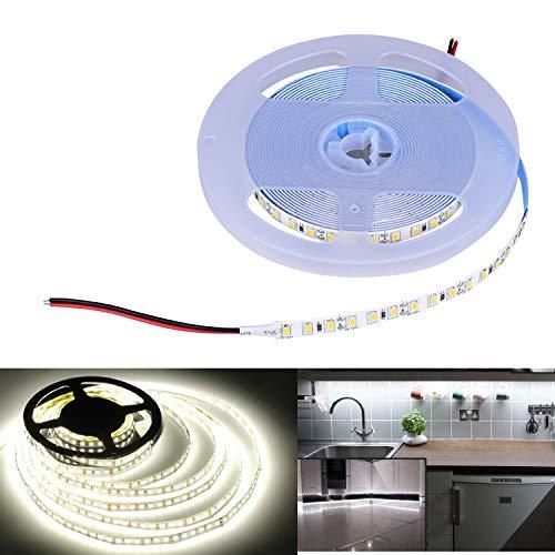 Arotelicht 5M 600 LEDs 2835SMD LED Leiste Strip Stripe Band Streifen Lichtleiste Lichterkette Lichter,kaltweiß, nicht wasserdicht IP20, 12V, 120LEDs/M