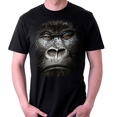 Big Face Animal Gorilla Men's T-Shirt