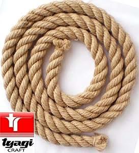 Juteseil Hanfseil Seil Naturseil Tauwerk Juteseil Jute Seil Naturseil Schnur Leine 26mm 1M Tyagi Craft