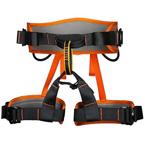 MagiDeal Cintura Di Discesa In Corda Doppia Sicurezza Esterna Albero Di Arrampicata Su Roccia Sedersi Imbracatura - Arancione