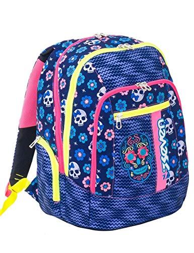 Zaino scuola advanced SEVEN - MEXI GIRL - Blu - 30 LT - inserti rifrangenti