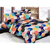 Grand Collections Best Premium Latest King Queen, Kids Under 15 Loving, Cotton Double & Single Bedsheet With 2 Pillow Covers,Multicolour