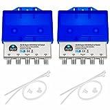 2x HQ DiseqC Schalter Switch 4/1 mit Wetterschutzgehäuse HB-DIGITAL 4x SAT LNB 1 x Teilnehmer / Receiver für Full HDTV 3D 4K UHD