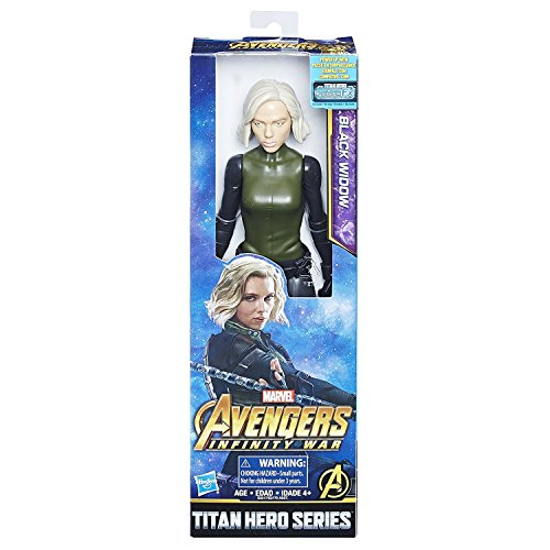 Marvel Infinity Titan Hero Serie Black Widow - Cuchillo de Guerra con Puerto Titan Hero Power FX