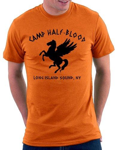 Camp Halfblood T-shirt, Größe S, Orange
