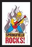 Empire 538291I Simpsons Homer Rock-Specchio Stampato con Cornice in plastica Effetto Legno, 20x 30cm