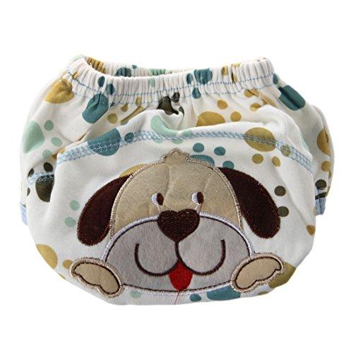 SODIAL(R) Windelhose Stoffwindel Windel ueberhose Baumwolle Windelueberhosen Baby XL (Huendchen) (Hündchen Windel)