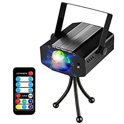 NIUBIER Strobe Lights Disco Lights DJ Lights led stage lights party light with Remote- Ocean Moving waves 7 colors rotating disco sound activated DJ lights disco ball light for home birthday Parties Karaoke DJ Outdoor Wedding new year Halloween