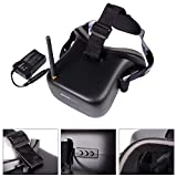 XCSOURCE® Eachine VR-007 5.8G 40CH HD FPV Schutzbrillen Videobrillen Monitor 4,3 Zoll mit 7,4V 1600mAh Akkus AH220