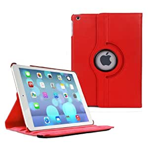 E2G Case® PU Leather 360 Degree Rotating Stand safety Case Cover for The iPad 2,3,4 RED