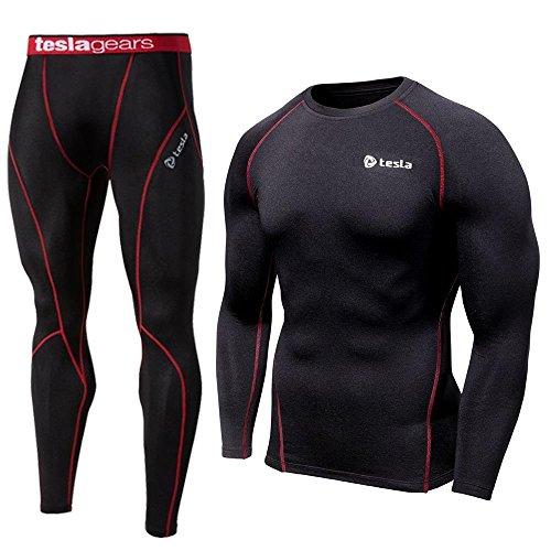 tesla-pour-garaons-haut-a-manches-longues-pantalon-de-sport-de-couche-de-base-de-compression-skins-n