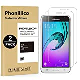 [Pack de 2] Verre Trempe Samsung Galaxy J3 2016 - SM-J320 - Film Protection Ecran Verre Trempe Glass Screen Protector Tempered Ultra Resistant [Lot de 2] Vitre Ecran Protecteur Anti Rayure Sans Bulle d'Air Dureté 9H Ultra Mince Transparent Phonillico