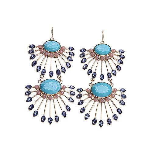 ZHWM Ohrringe Ohrstecker Ohrhänger Big Fan Form Ohrringe Für Frauen Online-Shop Einzigartige Modeschmuck Neue Marke Ohrringe