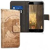 kwmobile Apple iPhone 6 / 6S Custodia portafoglio - Cover magnetica con stand in simil pelle - Case porta carte per Apple iPhone 6 / 6S