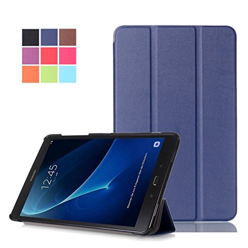 "custodie tablet samsung DETUOSI Custodia per Samsung Galaxy Tab A6 10.1"" (SM-T580 / T585) Tablet  PU Pelle Case Cover Custodia con Supporto"