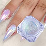 Bbl345dLlo Glitter Mirror Nail Chrome Powder, Mermaid Nail Art Glitter Powder Gradient Color DIY Pigment Body Face Decoration
