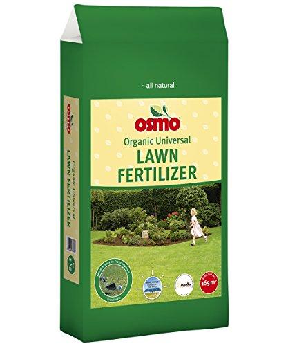 Osmo Universal Rasendünger mit Langzeitwirkung 12-5-5 (DK 12-2-4) 10kg Sack Für Dichten Rasen und Natürlich Gesunden Rasen