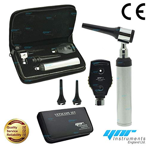 Ynr England Vetscope LED Veterinario Otoscopio Oftalmoscopio Ent Set Veterinario Diagnóstico Veterinarios...