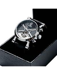 Tourbillon - Reloj de muñeca automático masculino Correa de cuero genuino