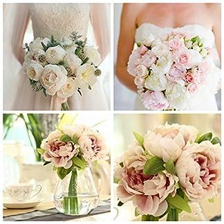 luxury-uk mortaja en varios façons ramo de boda simulación peonía Artificial flor colorée Gerbera fiesta de boda Carlos Café condecoraciones rosa claro