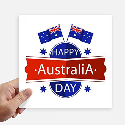 n Happy Australia Day Flag Stickers 20Cm Wand Koffer Laptop Motobike Aufkleber 4Pcs 20Cm X 20Cm Mehrfarbig ()