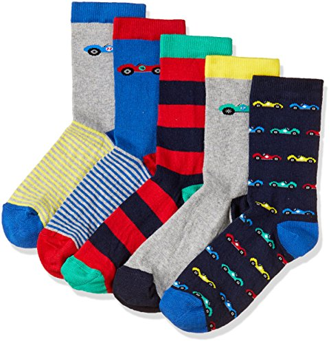 Marks & Spencer Boys' Cotton Ankle Socks (T644625BLUE MIX8+-12)