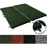 Fallschutzmatten Play Protect United | mit Steckverbindern | grün | Fallschutz made in Germany | einzeln oder im 2er Set (2 Stück: 100 x 100 cm)