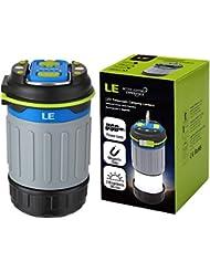 LE Lanterne de Camping LED 3W étanche IPx4, Lampe de Poche Légère, Xtra Lumineux 330lm, Eclairage Extérieur, Rechargeable, Idéal pour randonnée, camping, pêche