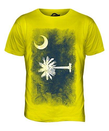 CandyMix Bundesstaat South Carolina Verblichen Flagge Herren T Shirt Zitronengelb