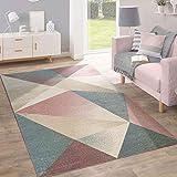 Paco Home Teppich Kurzflor Modern Trendig Pastell Geometrisches Design Inspiration Multi, Grösse:120x170 cm