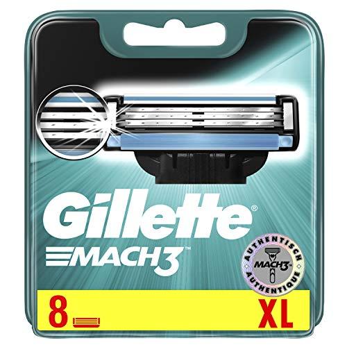 Gillette Mach3 Rasierklingen, 8 Stück, briefkastenfähige Verpackung