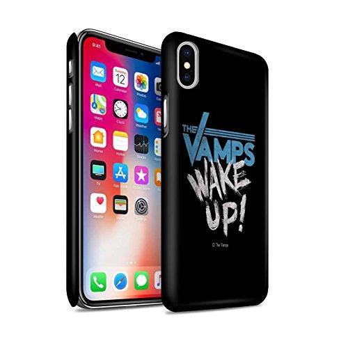 Officiel The Vamps Coque / Clipser Matte Etui pour Apple iPhone X/10 / Blanc/Noir Design / The Vamps Graffiti Logo Groupe Collection Réveillez-Vous!