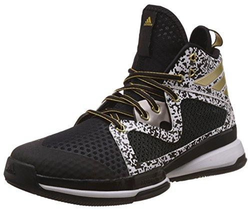 adidas Herren Adizero PG Basketballschuhe, Schwarz/Gold/Weiß (Negbas/DORMET/Ftwbla), 47 1/3 EU
