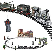 hunpta Remote Control Conveyance Car Electric Steam Smoke RC Train Set Model Toy Gift - Compare prices on radiocontrollers.eu