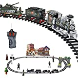 Best Various Electric Train Sets - Hunpta Remote Control Conveyance Car Electric Steam Smoke Review