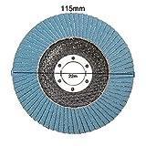 pictech 115mm Klappe Schleifen Festplatte 406080120Körnung Winkelschleifer Rad aus Zirkonoxid–(1x Klappe Schleifscheibe), No. 120, 1