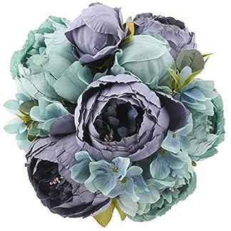Cherrboll – Ramo de Flores de Seda de peonía Artificial Vintage para decoración del hogar, Boda, Fiesta