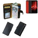 K-S-Trade Für UMIDIGI Z1 Pro Schutz Hülle Portemonnaie Case Phone Cover Slim Klapphülle Handytasche Schutzhülle Handyhülle schwarz aus Kunstleder (1 STK)