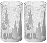 2 x ufficiale Yankee Candle magical Christmas Arctic foresta vasetto di vetro crackle grande supporto decorazione ornamento natalizio maniche
