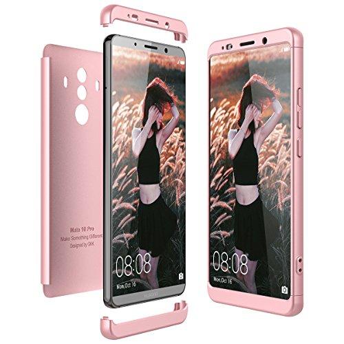 CE-Link Huawei Mate 10 Pro Hülle, Hardcase 3 in 1 Hard Handyhülle Ultra Dünn Slim Hartschale 360 Grad Full Body Schutz Handytasche Schutzhülle Bumper - Rose Gold
