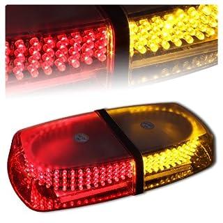 Aurnoc LED Amber helles 240-LED Stroboskop Blitzlicht für das Auto LKW Konstruktion Warnaufsteller Notfall Blitzmodi 7 Sicherheit Red& Yellow