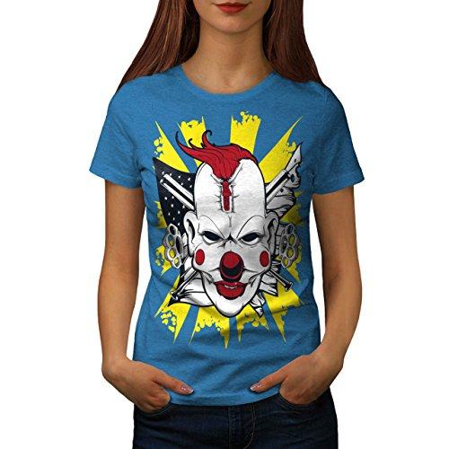Clown schaurig Böse Horror Damen S-2XL T-shirt | Wellcoda Royal Blue