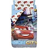 Disney Cars Neon - Saco nórdico de 2 piezas para cama de 90 cm