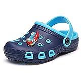 SITAILE Kinderschuhe Jungen Mädchen Sandalen Sportschuhe Sommer Schuhe Outdoor Clogs Pantoletten Gartenschuhe, Blau - 29 EU
