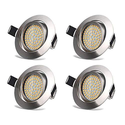 LED Focos Empotrables Luz de Techo 3.5W LED Extraplano Downlight Blanco Cálido...