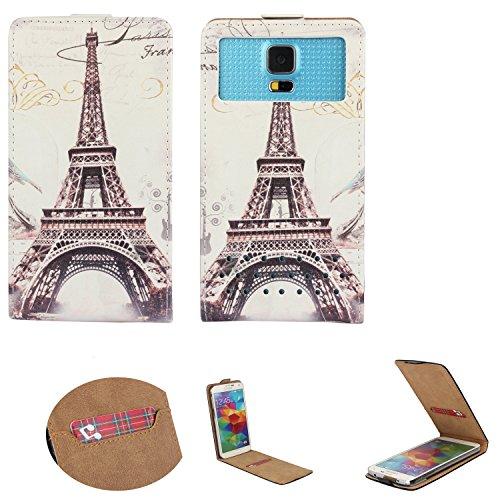 Handy Hülle für - Switel Mambo S4018D - Flip Tasche mit Kreditkartenfach - Flip Nano XS Paris 2