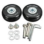 MOHOO Gepäck-Koffer Ersatz Wheels Rad mute runde Räder Gummi koffer Räder Set für Gepäck-Koffer Ein Paar (50x18mm)